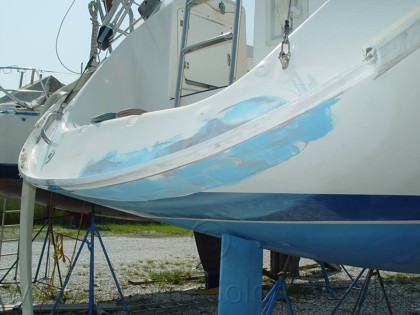 Bavaria 34, glass, gel-match repair - 15