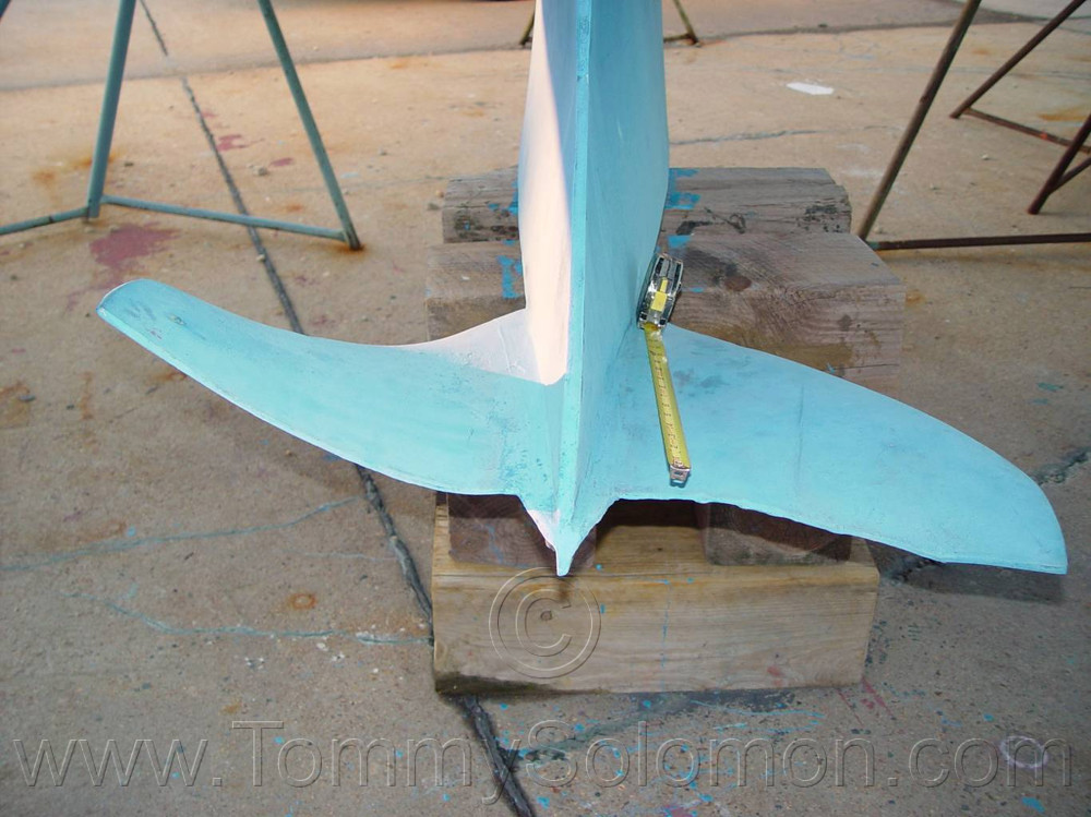 Lead Wing Keel straightened after grounding - 1