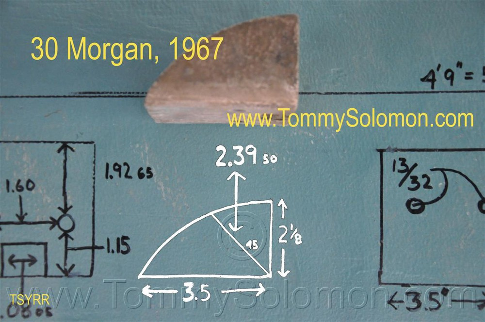 1967 Morgan 30 Swing Keel/Center Board Dimensions - 14 :: Job Photos