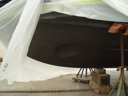 Bow Thruster 47 Riviera Install - 1